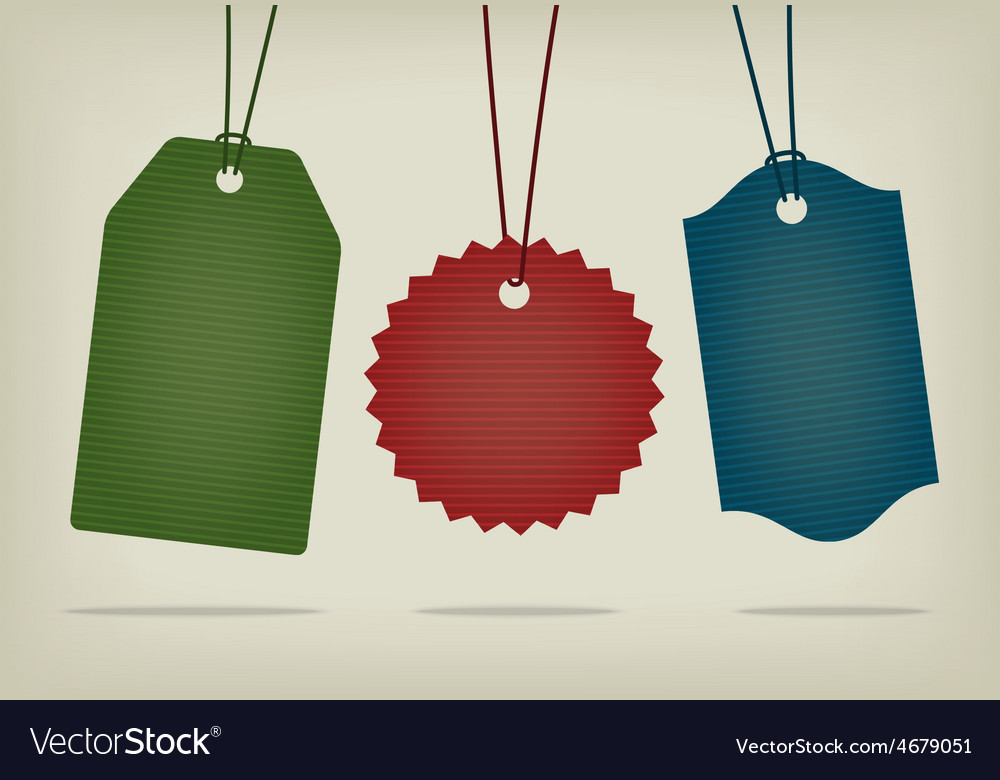 Set of blank textured hanging pricing tags vector | Price: 1 Credit (USD $1)