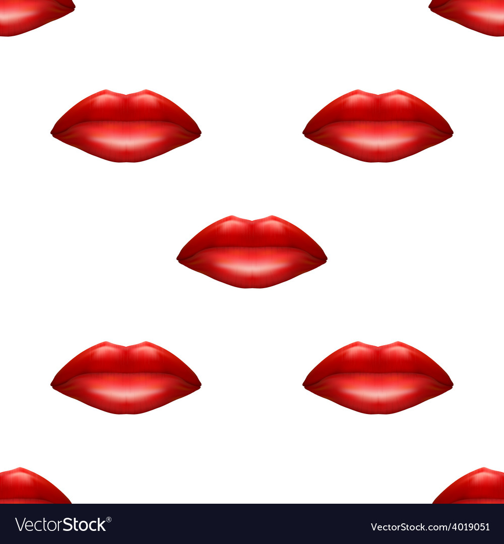 Universal red lips seamless patterns vector | Price: 1 Credit (USD $1)