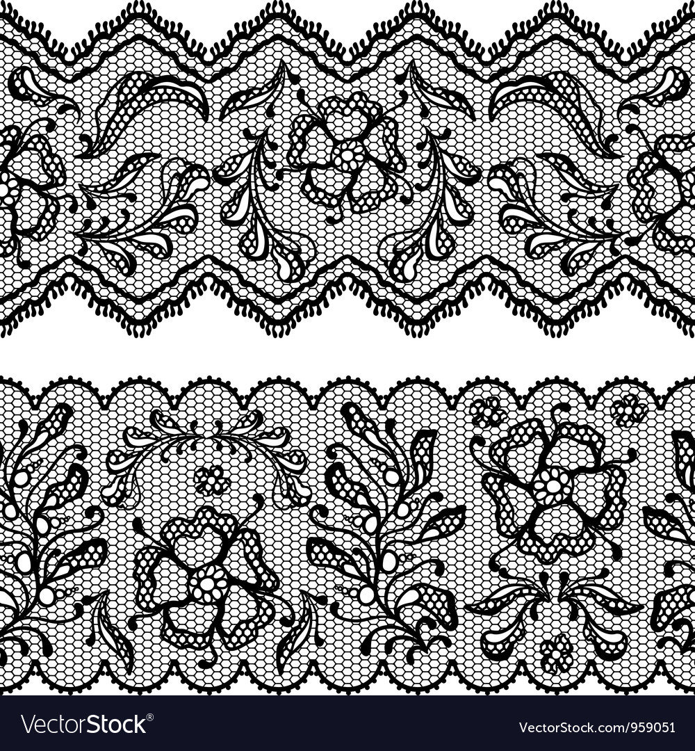 Vintage lace background ornamental flowers texture vector | Price: 1 Credit (USD $1)