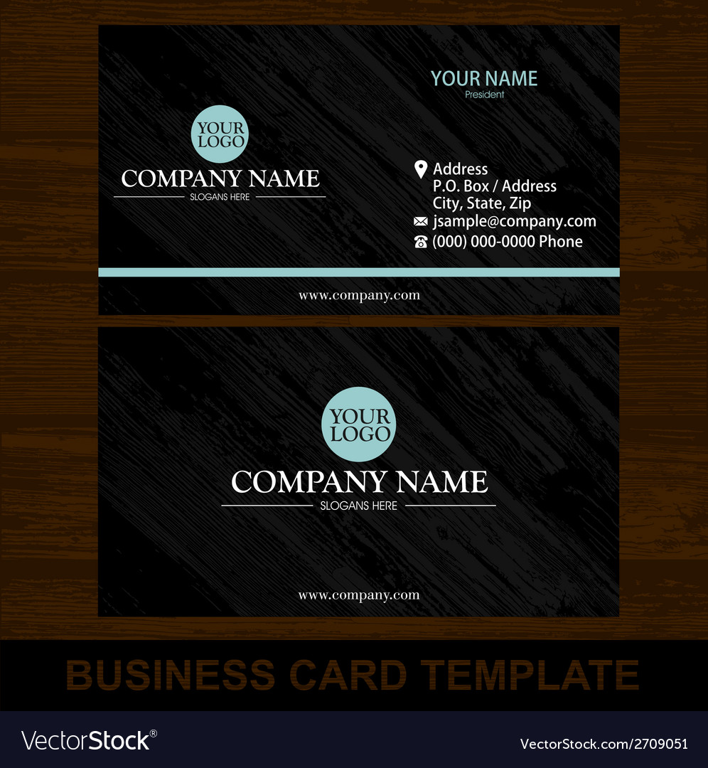 Wood business card template vector | Price: 1 Credit (USD $1)