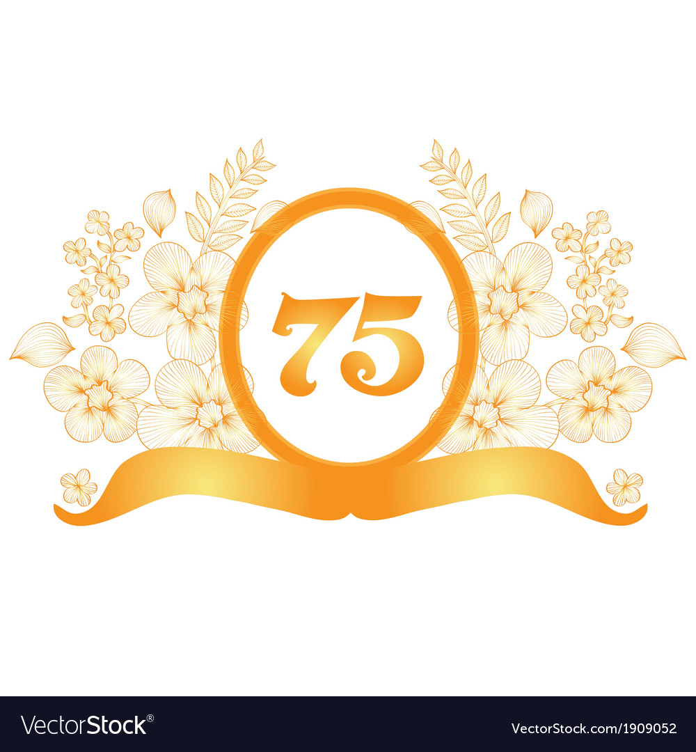 75th anniversary banner vector | Price: 1 Credit (USD $1)