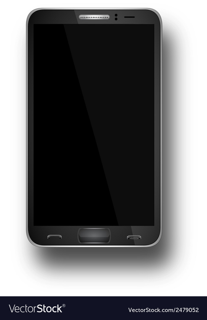 A mobile phone black eps10 vector | Price: 1 Credit (USD $1)