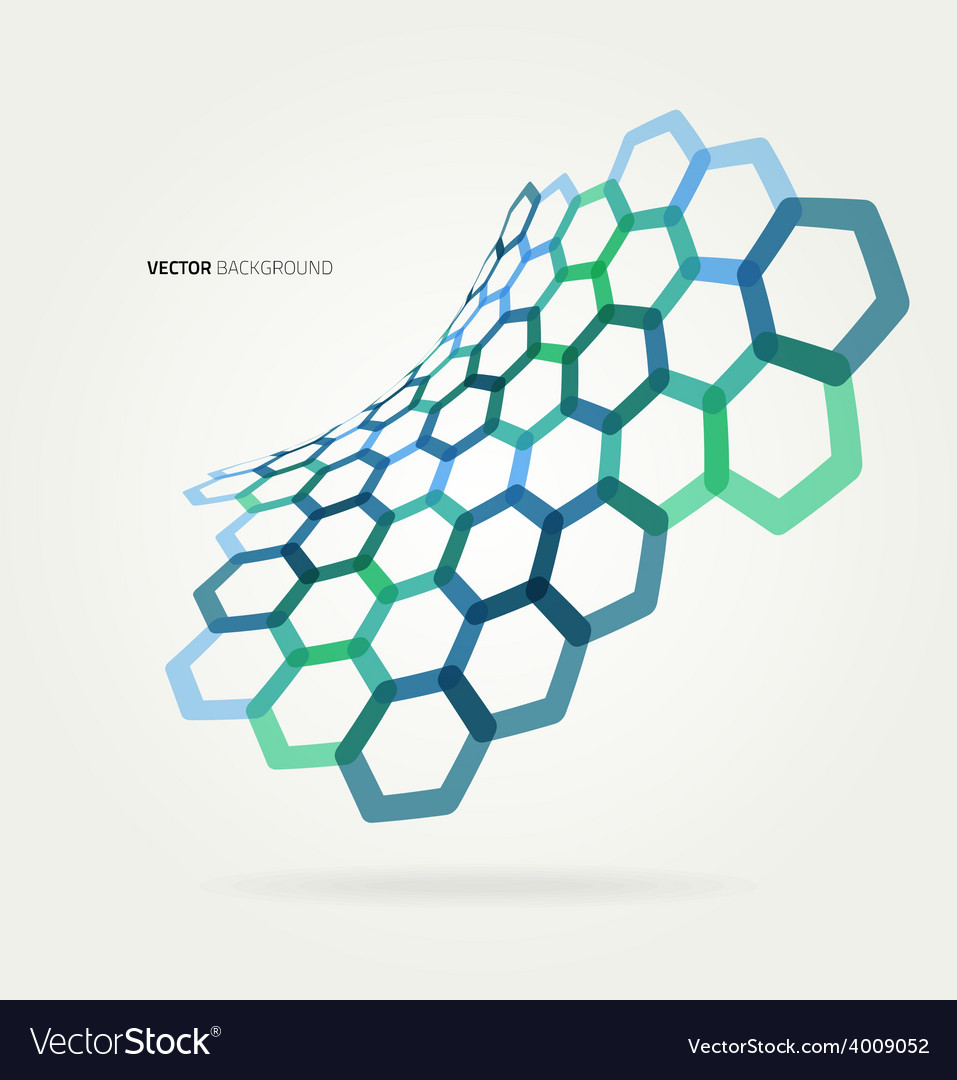 Abstract wave hexagons template vector | Price: 1 Credit (USD $1)
