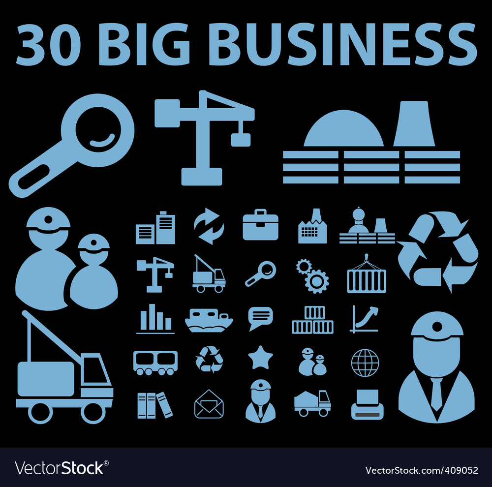 Business signs vector | Price: 1 Credit (USD $1)