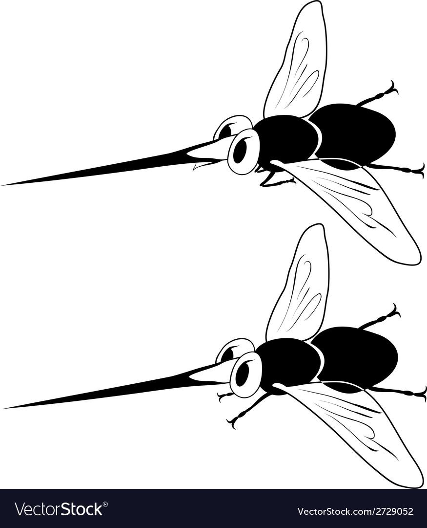 Cartoon mosquito vector | Price: 1 Credit (USD $1)