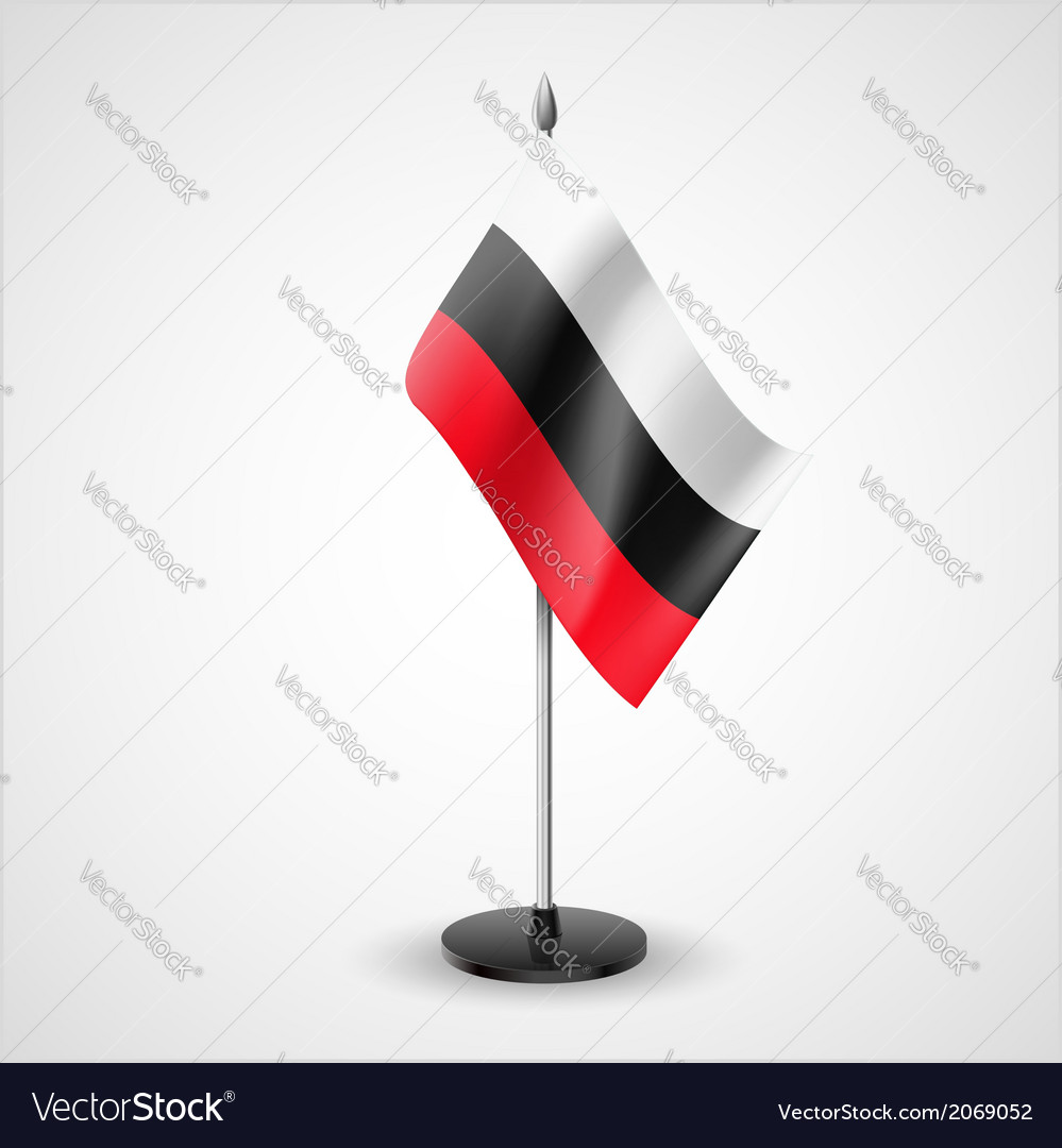 Colorful table flag vector | Price: 1 Credit (USD $1)