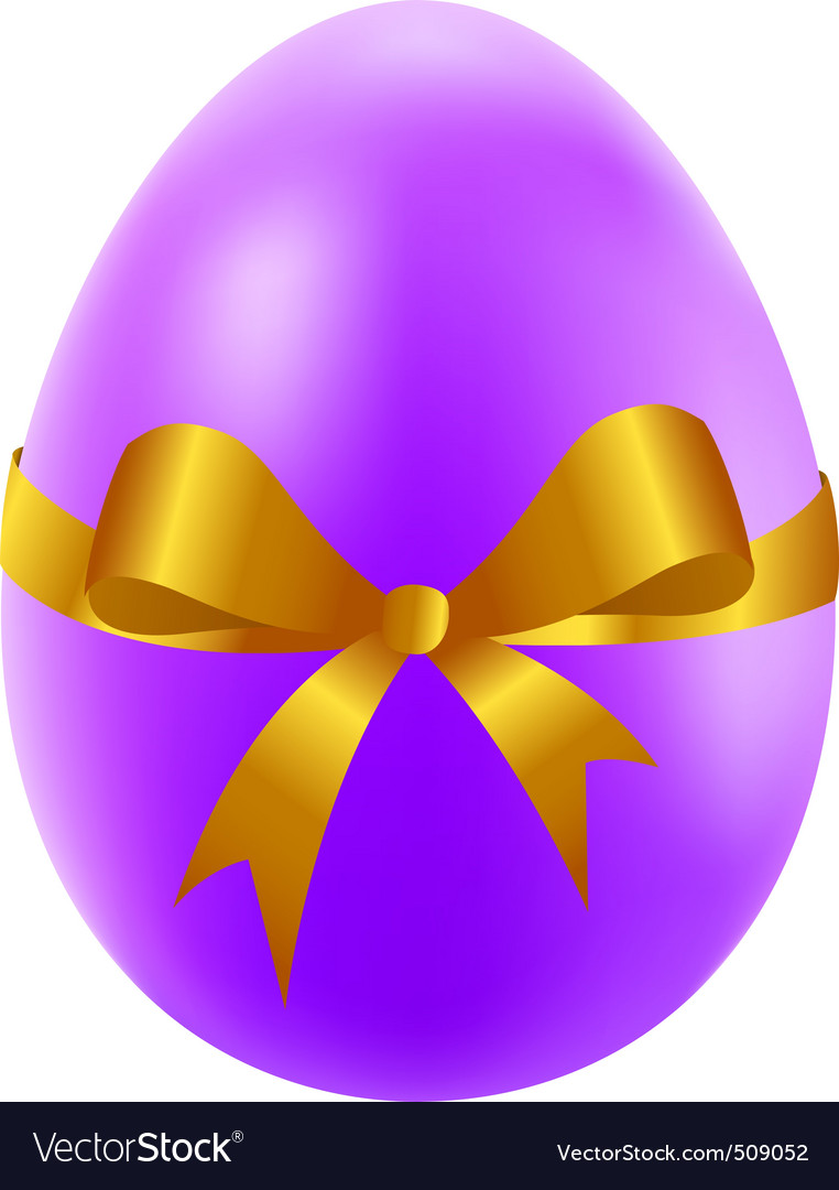 Easter egg with golden bow vector | Price: 1 Credit (USD $1)