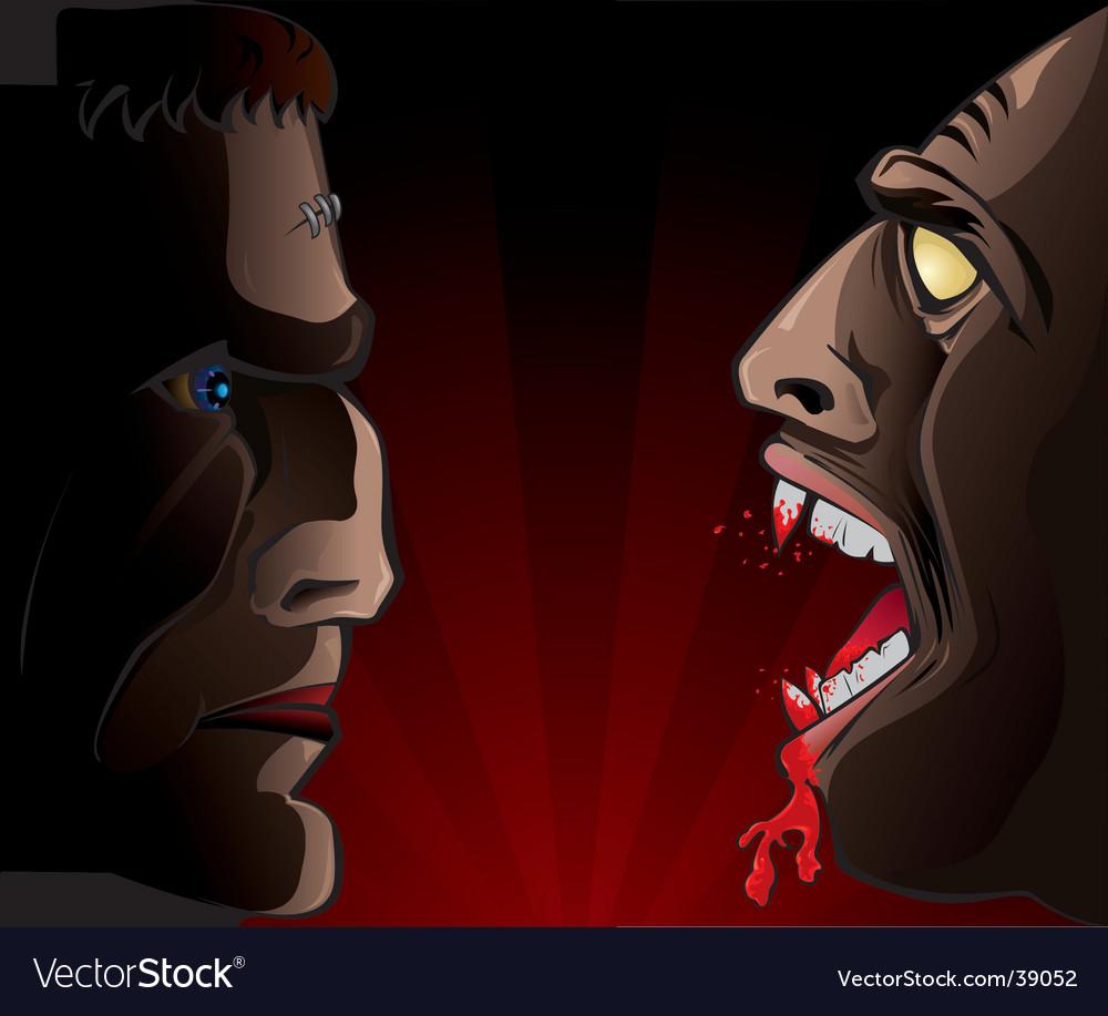 Frankenstein vs. vampire vector   Price: 3 Credit (USD $3)