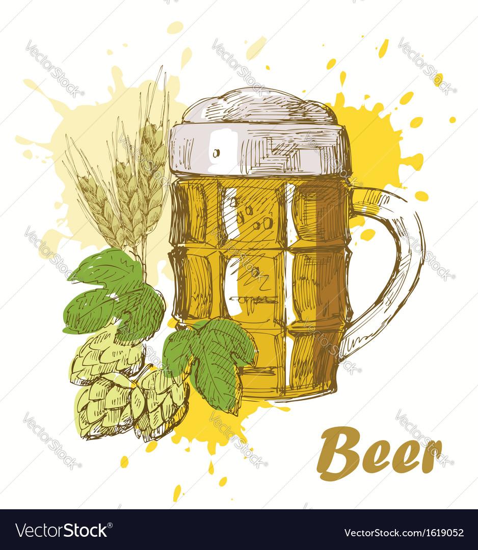 Hand draw beer vector | Price: 1 Credit (USD $1)