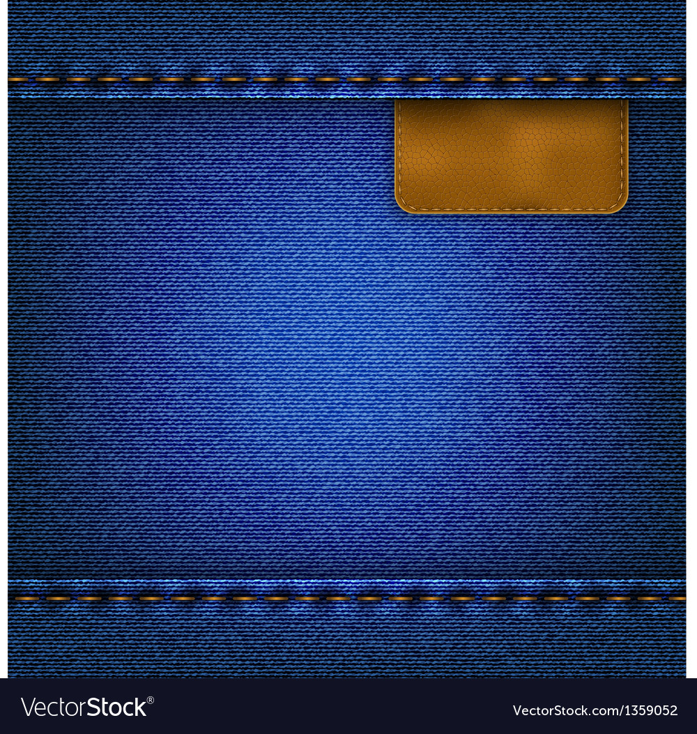 Jeans background with a leather label vector | Price: 1 Credit (USD $1)
