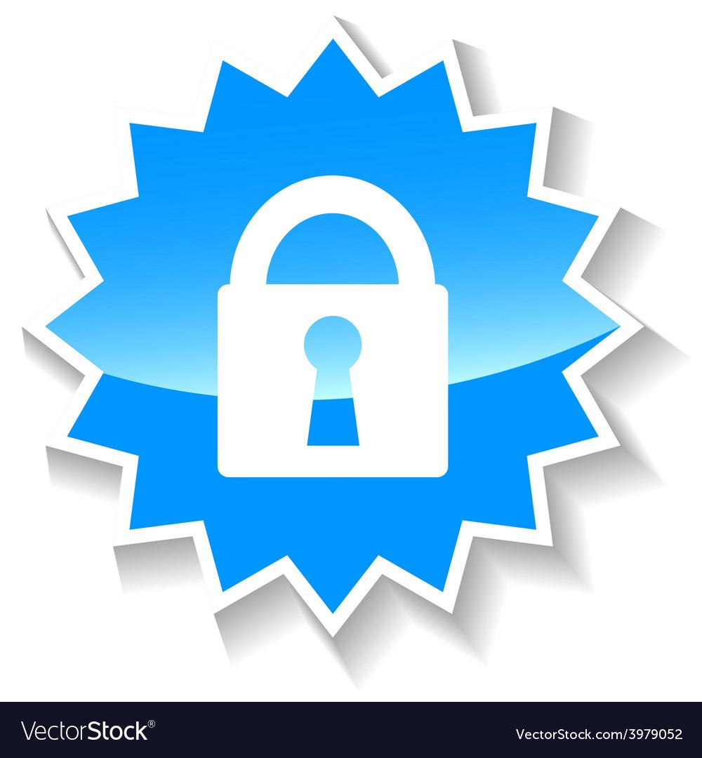 Lock blue icon vector | Price: 1 Credit (USD $1)