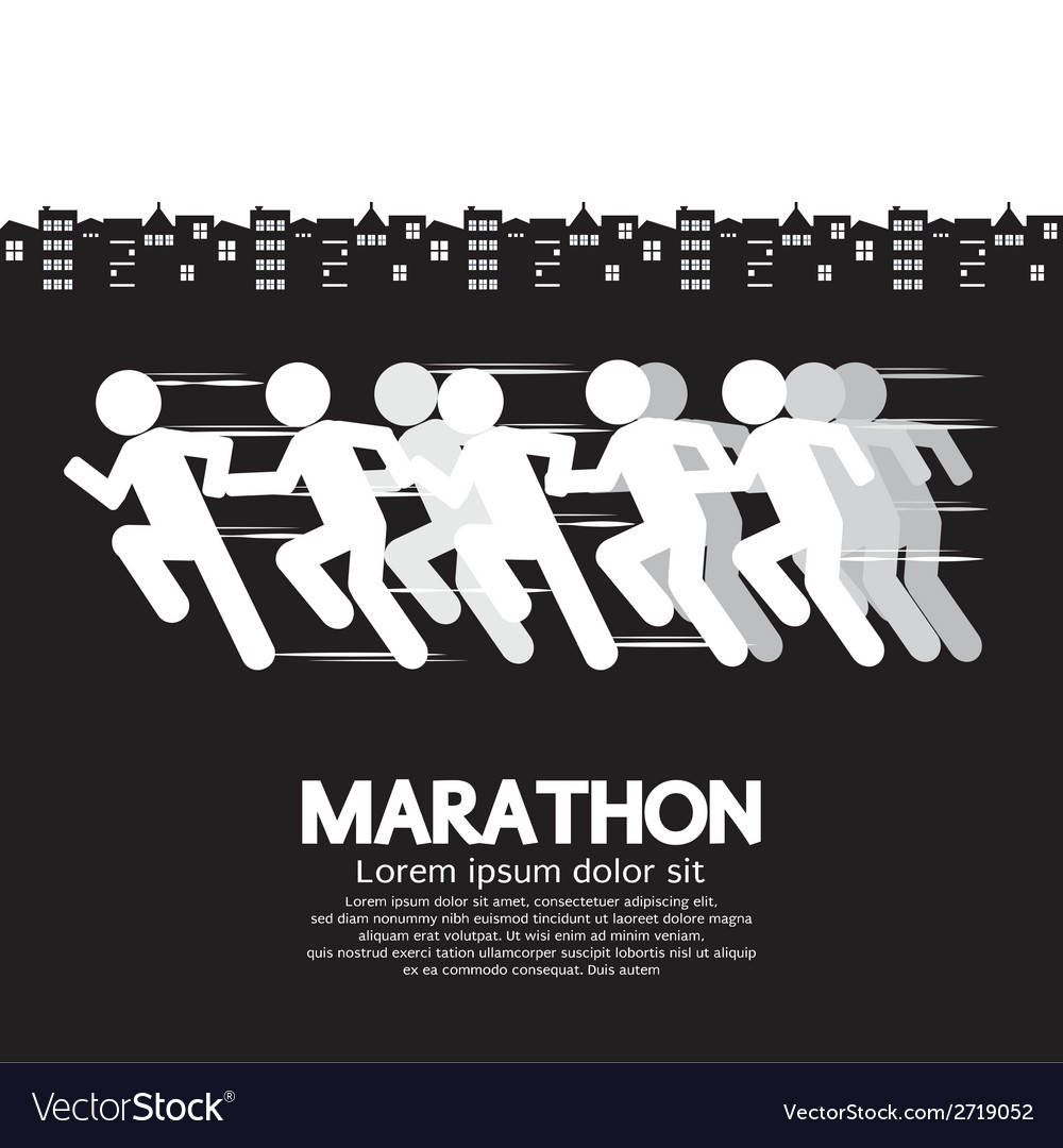 Marathon runner sign vector | Price: 1 Credit (USD $1)