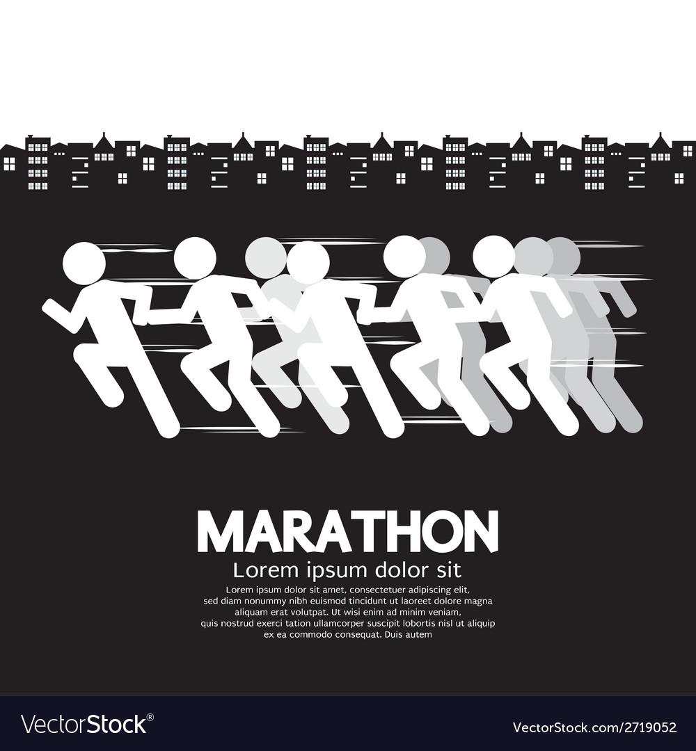 Marathon runner sign vector | Price: 1 Credit (USD $1)