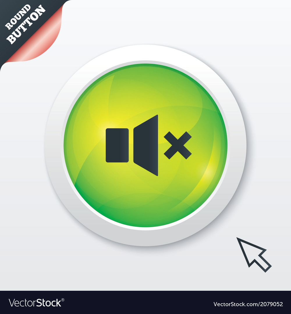 Mute speaker sign icon sound symbol vector | Price: 1 Credit (USD $1)