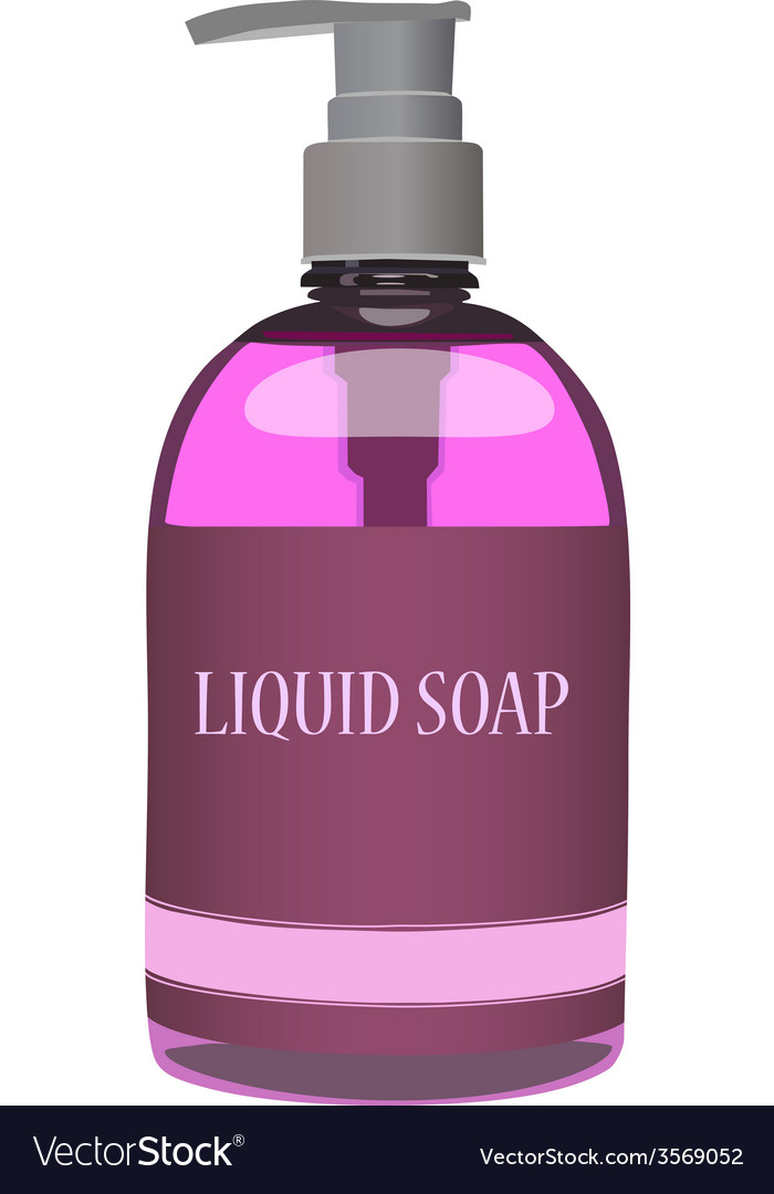 Pink soap bottle vector | Price: 1 Credit (USD $1)