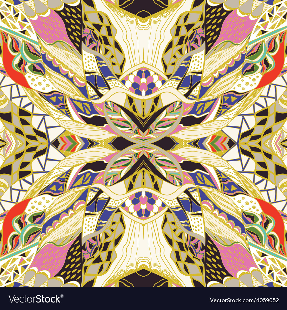 Traditional ornamental paisley bandanna hand vector | Price: 1 Credit (USD $1)