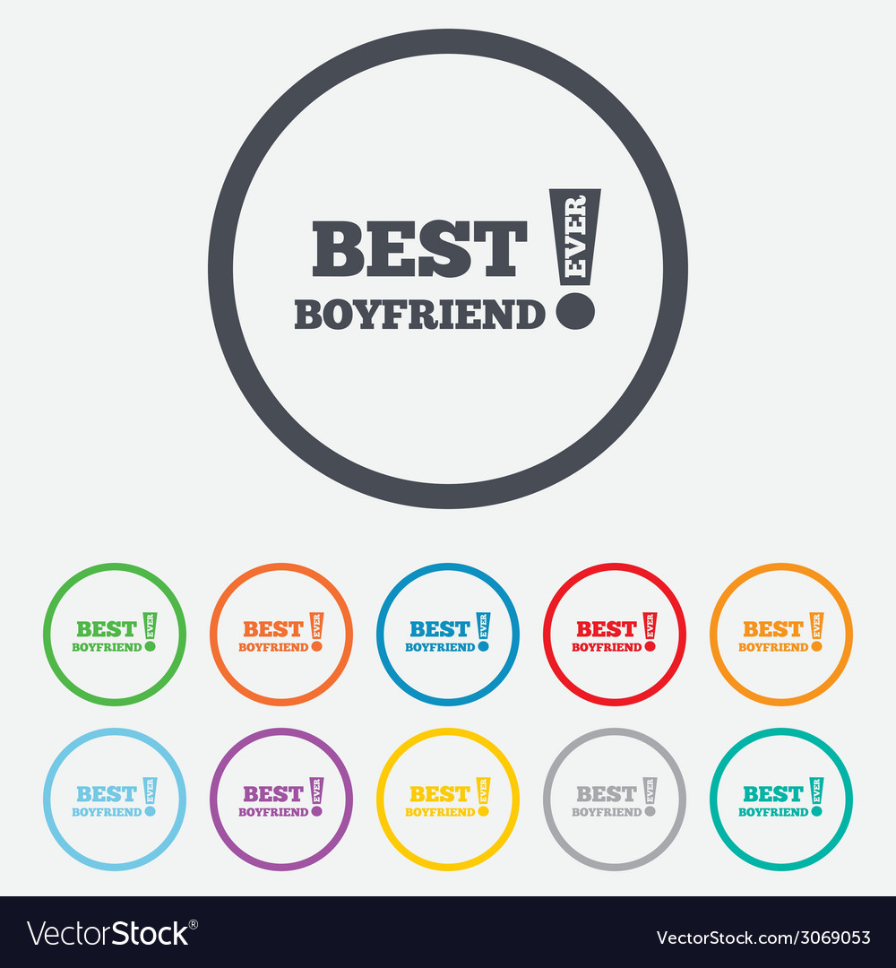 Best boyfriend ever sign icon award symbol vector | Price: 1 Credit (USD $1)