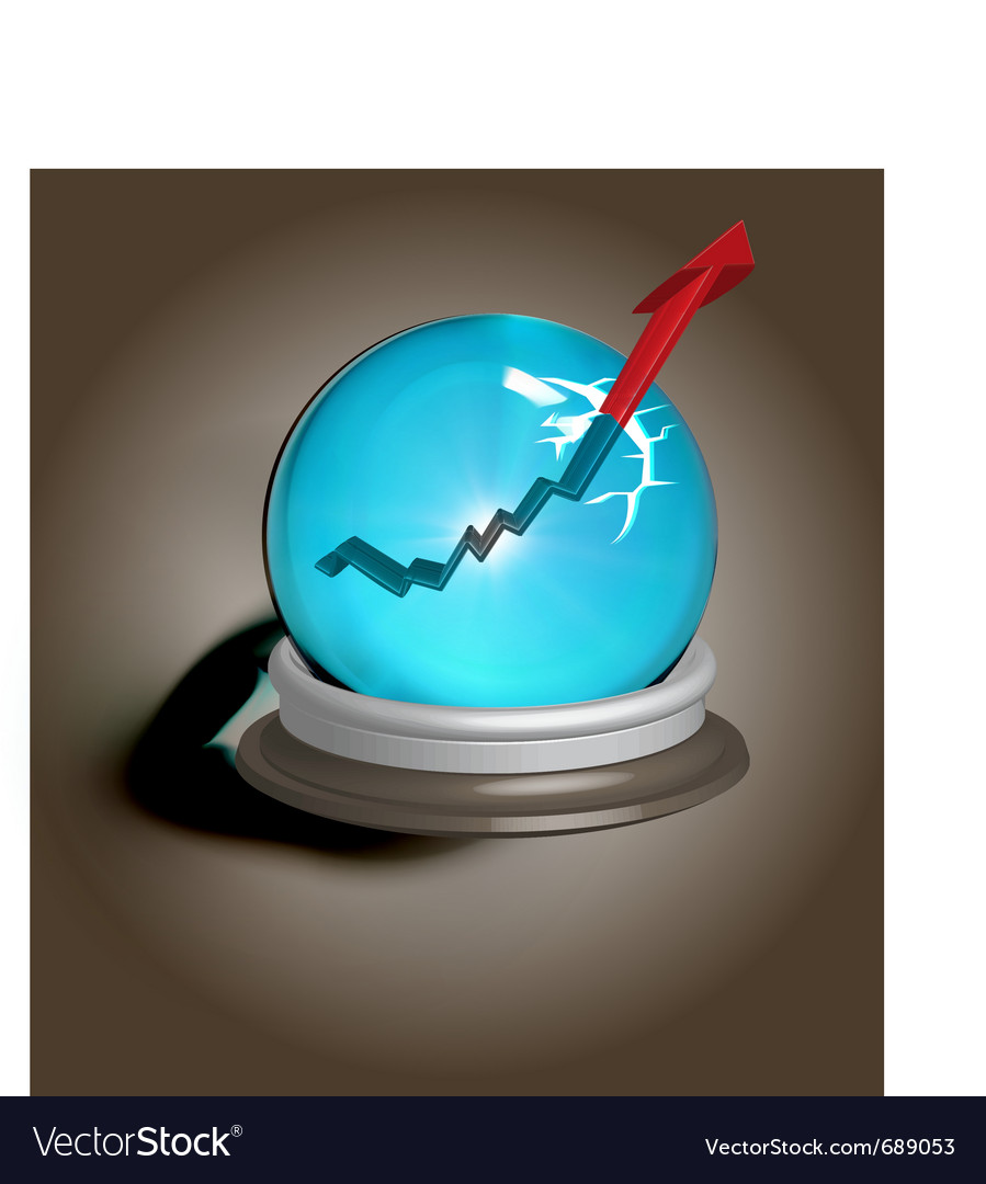 Broken magic crystal ball vector | Price: 3 Credit (USD $3)