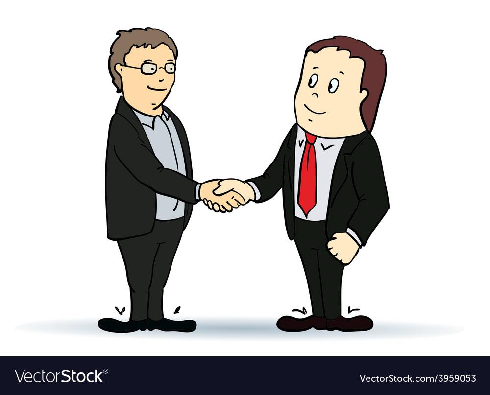 Businessman shaking hands vector | Price: 1 Credit (USD $1)