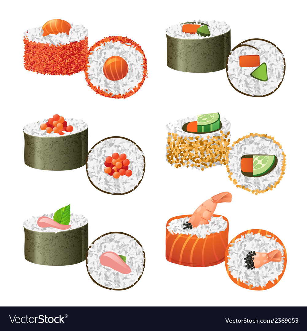 Great sushi set vector | Price: 1 Credit (USD $1)