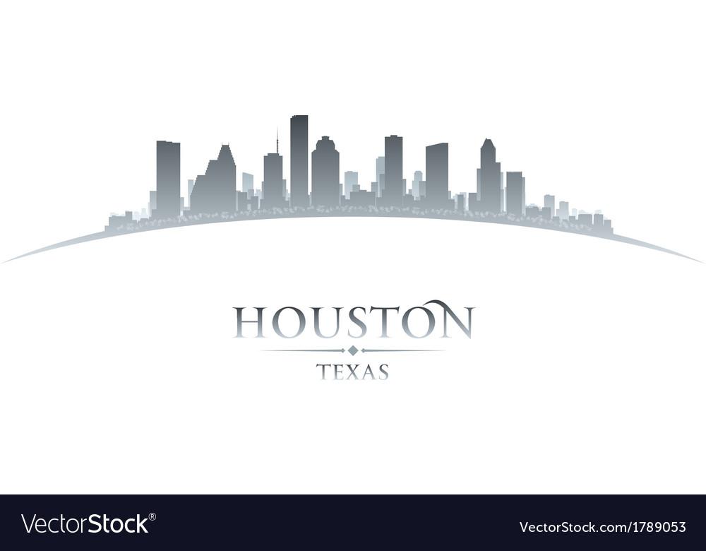Houston texas city skyline silhouette vector | Price: 1 Credit (USD $1)
