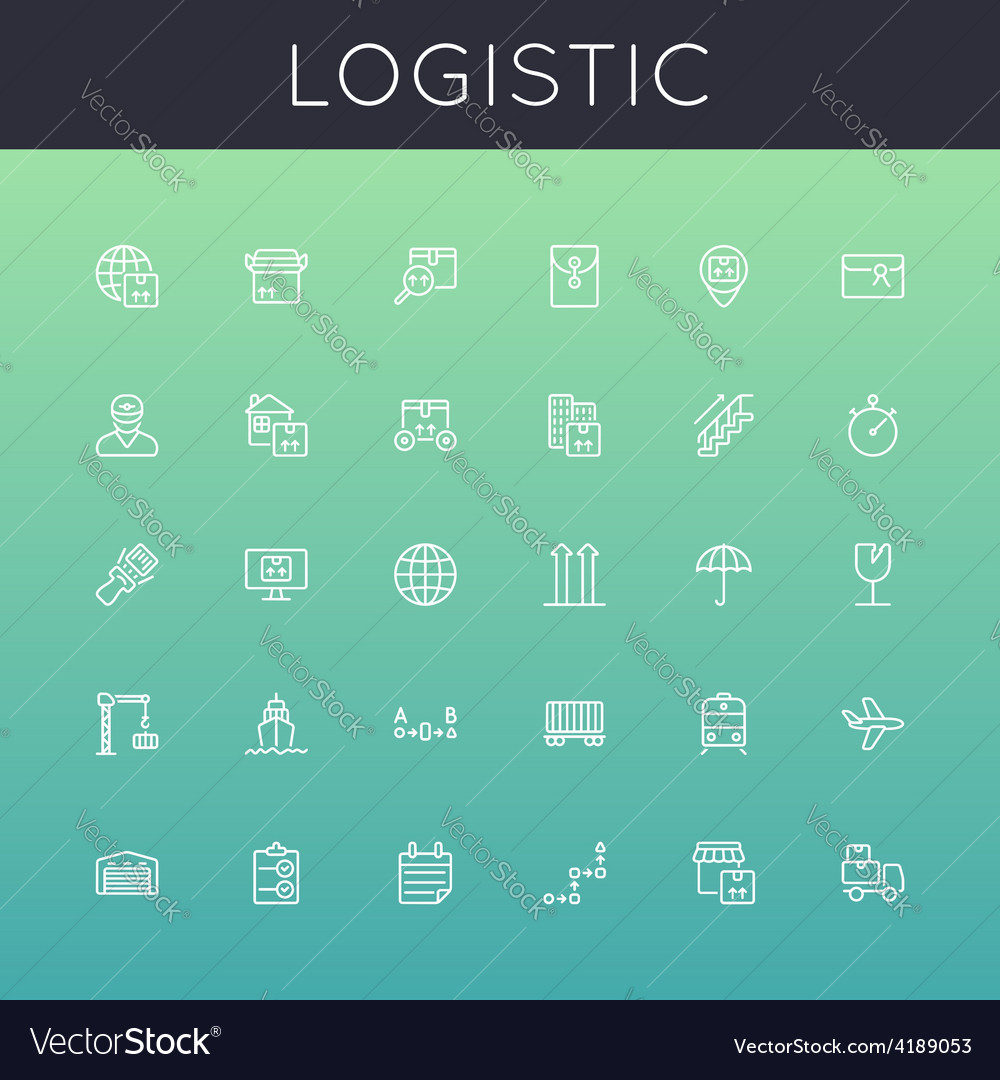 Logistic line icons vector | Price: 1 Credit (USD $1)