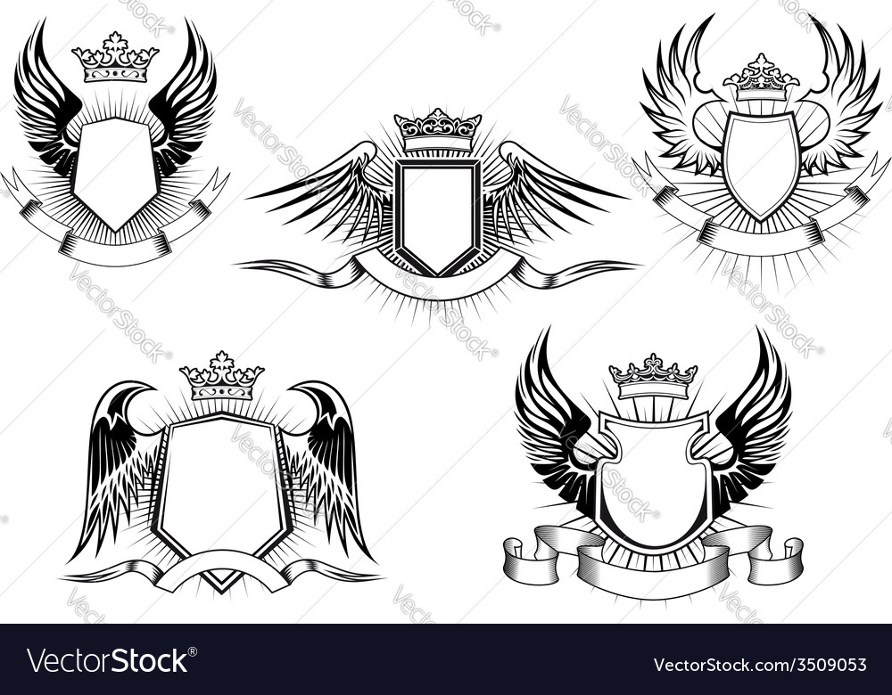 Royal coat of arms templates vector | Price: 1 Credit (USD $1)