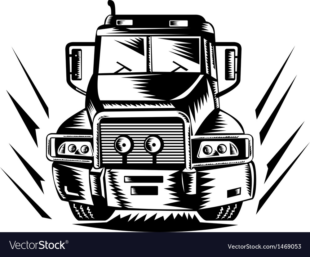 Truck lorry retro vector | Price: 1 Credit (USD $1)