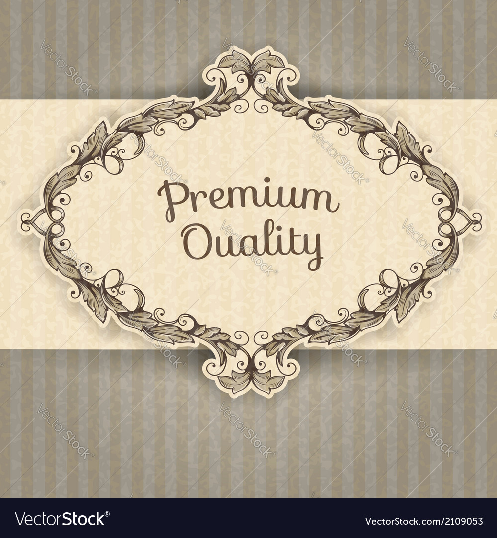Vintage frame and grunge background vector | Price: 1 Credit (USD $1)