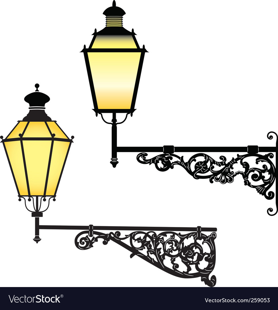 Wall street lamps vector | Price: 1 Credit (USD $1)