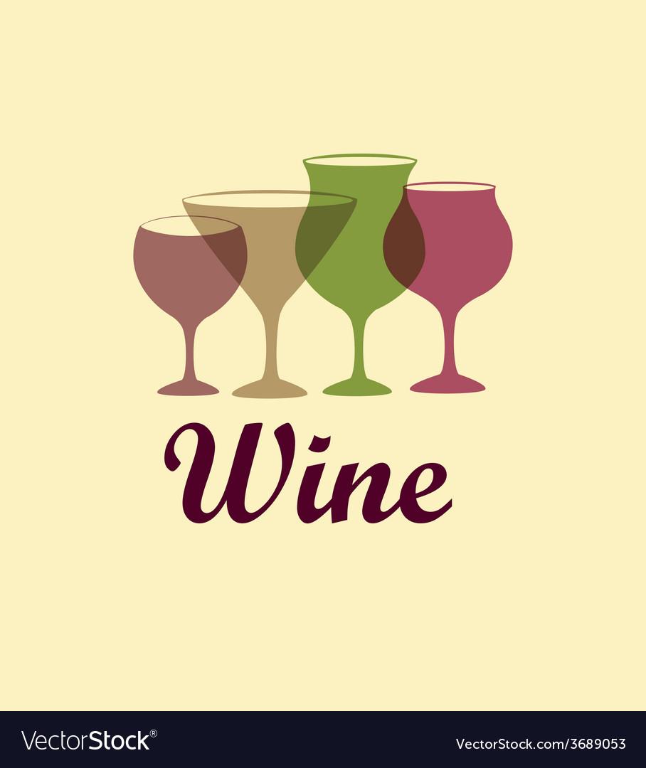 Wine design over beige background vector | Price: 1 Credit (USD $1)