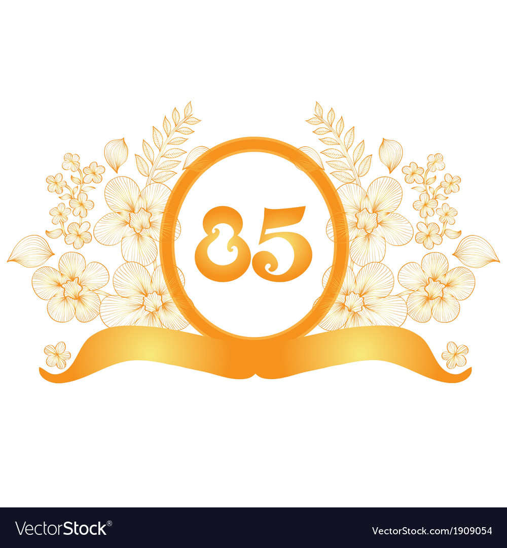 85th anniversary banner vector | Price: 1 Credit (USD $1)