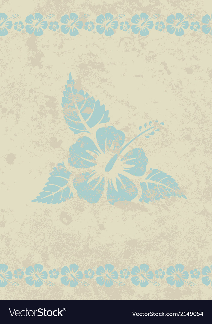 Aloha grunge back vector | Price: 1 Credit (USD $1)