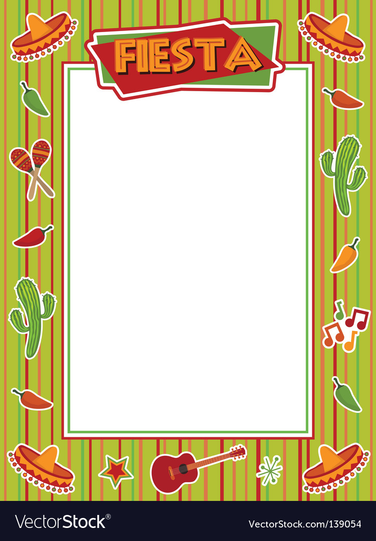 Fiesta frame vector | Price: 1 Credit (USD $1)