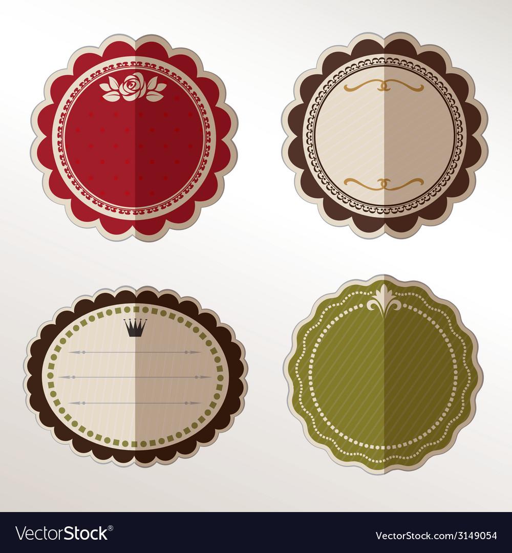 Frame labels set ornamental vintage decorat vector | Price: 1 Credit (USD $1)