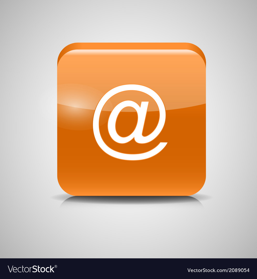 Glass mail button icon vector | Price: 1 Credit (USD $1)