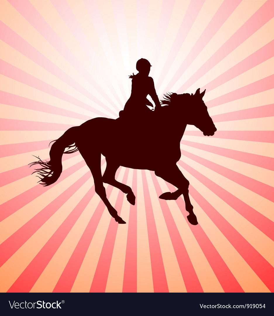 Horsewoman vector | Price: 1 Credit (USD $1)