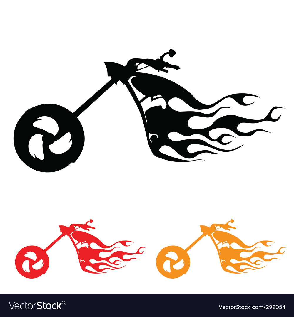 Motorcycle symbol vector | Price: 1 Credit (USD $1)