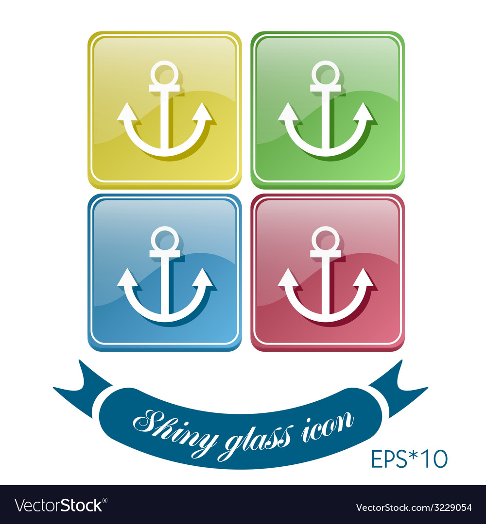 Nautical anchor anchor seafaring character icon vector | Price: 1 Credit (USD $1)