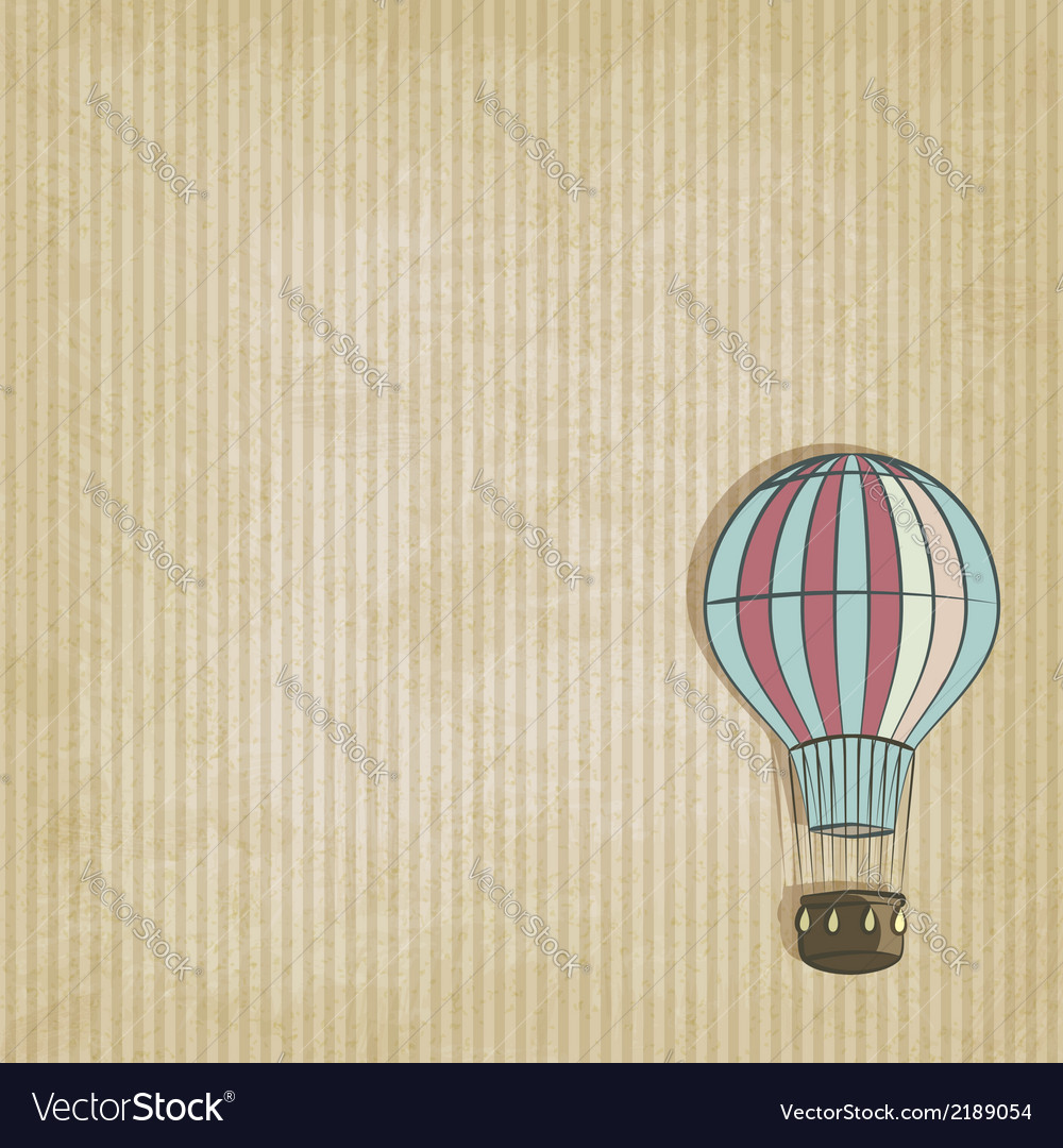 Retro background with aerostat vector | Price: 1 Credit (USD $1)