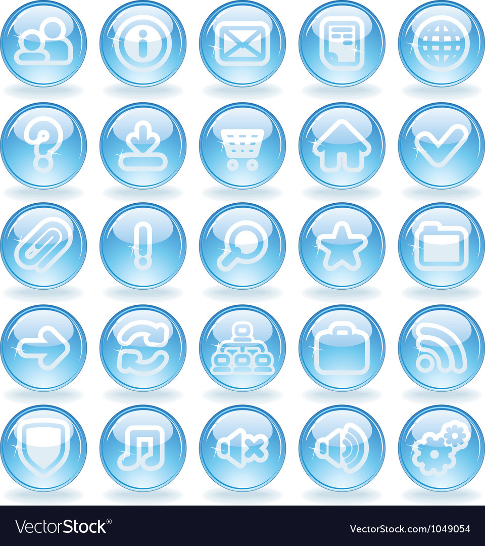 Shine glass icons vector | Price: 1 Credit (USD $1)