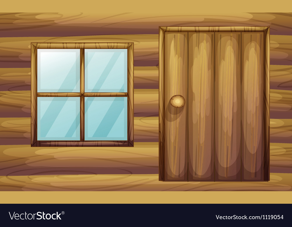 Wooden cabin vector | Price: 1 Credit (USD $1)