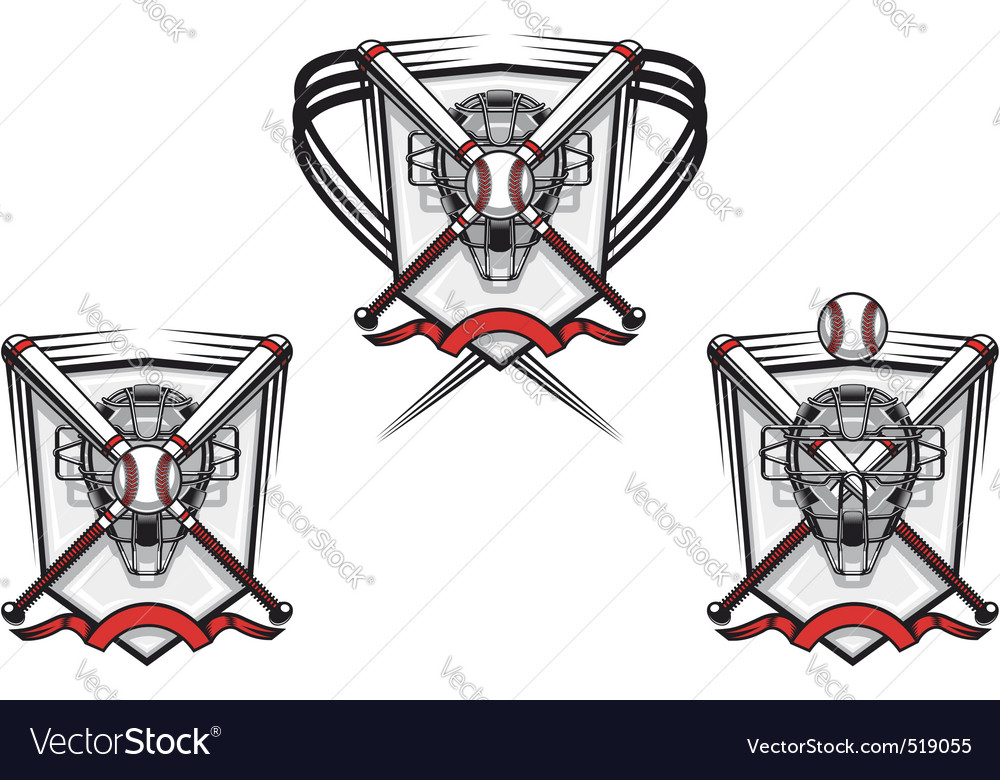 Baseball emblem vector | Price: 3 Credit (USD $3)