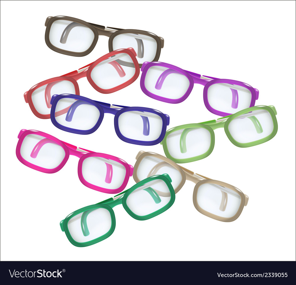 Color glasses - mess vector | Price: 1 Credit (USD $1)