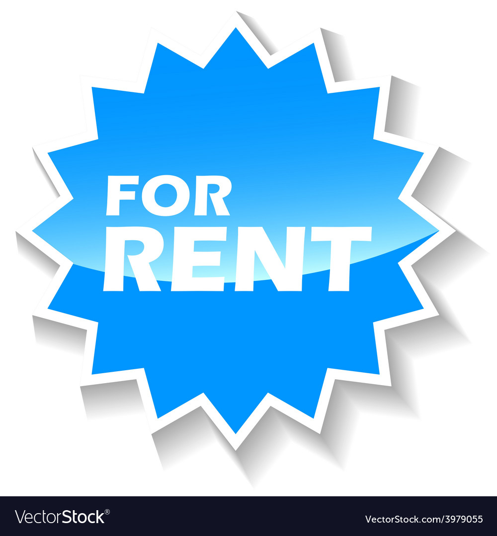 For rent blue icon vector | Price: 1 Credit (USD $1)