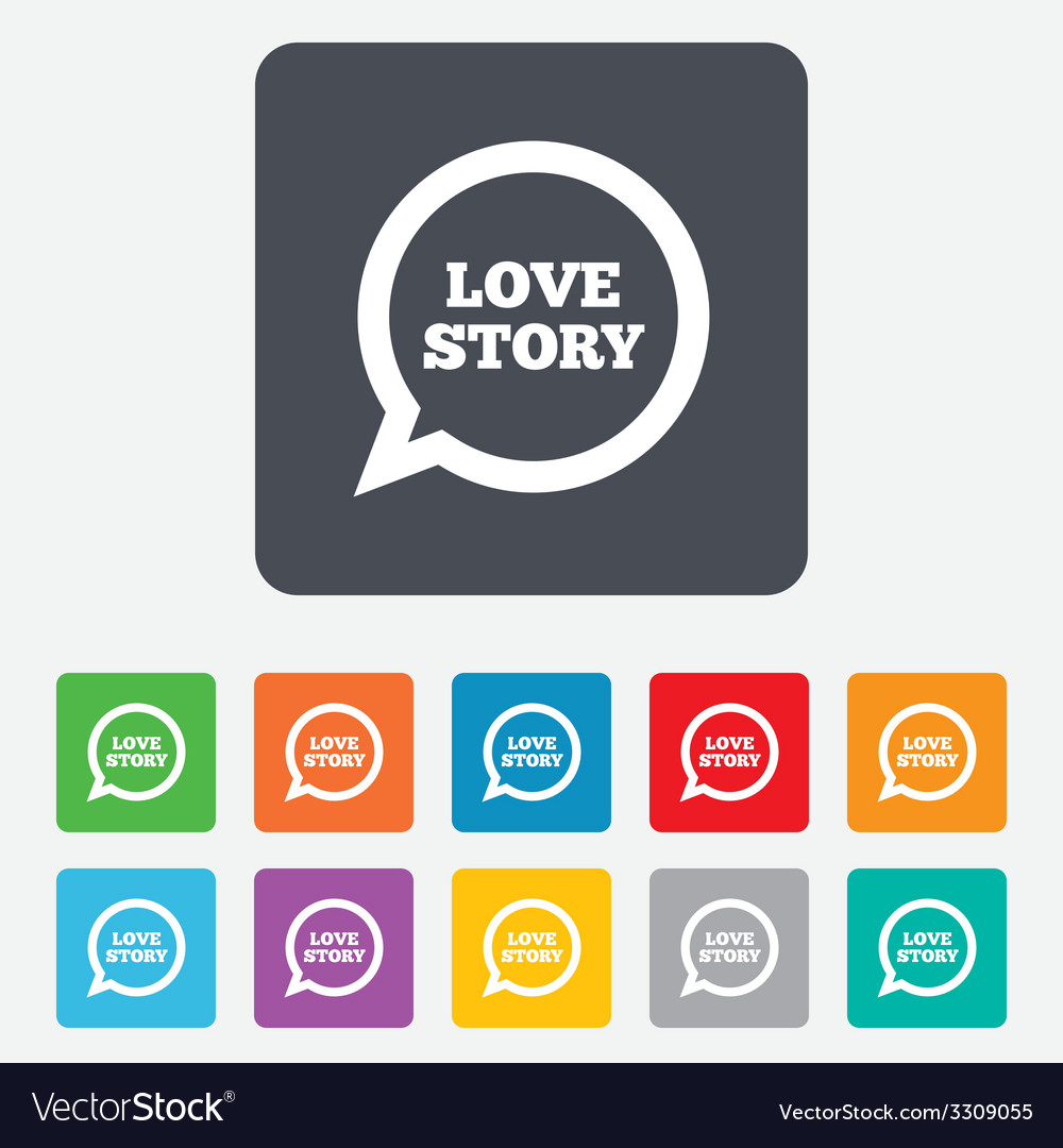 Love story speech bubble sign icon engagement vector | Price: 1 Credit (USD $1)