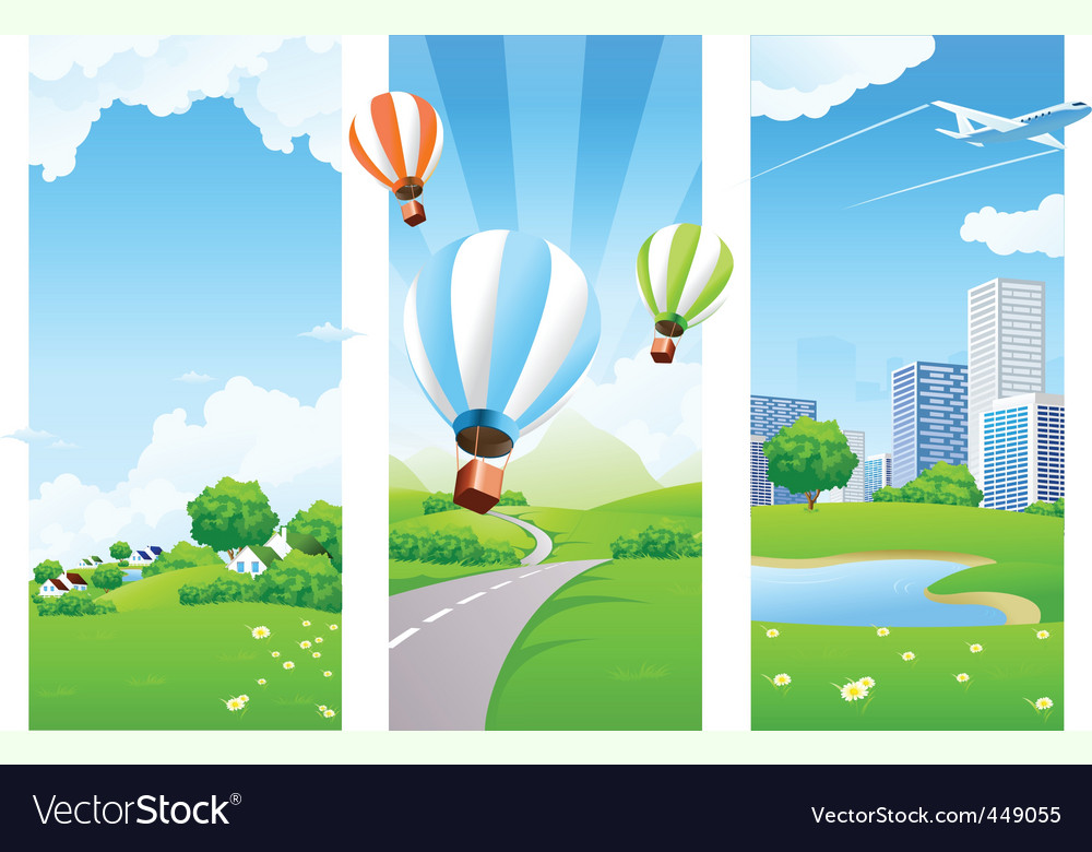 Nature banners vector | Price: 3 Credit (USD $3)