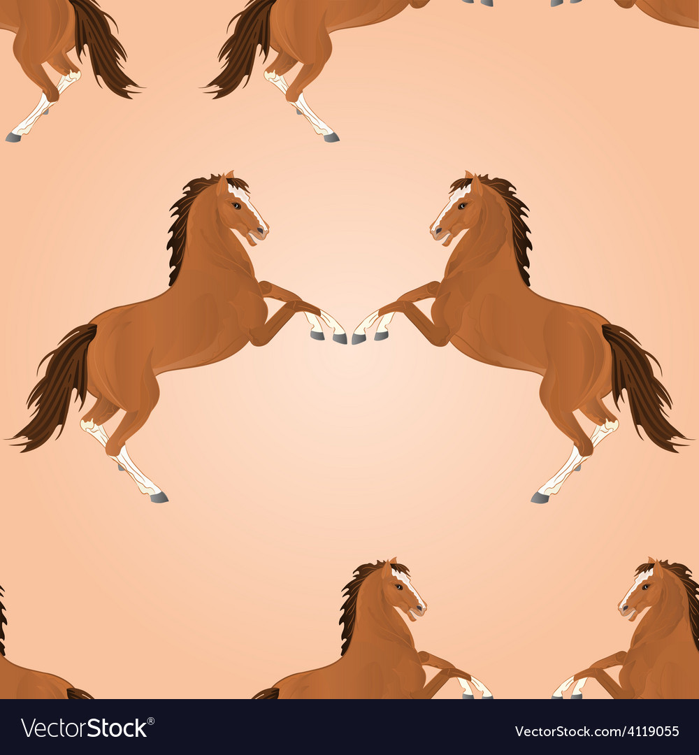 Seamless texture brown horse jump vector | Price: 1 Credit (USD $1)