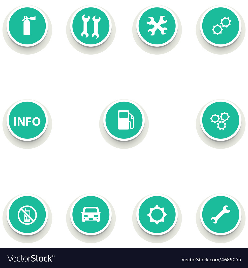 Set of round icons for car service vector | Price: 1 Credit (USD $1)