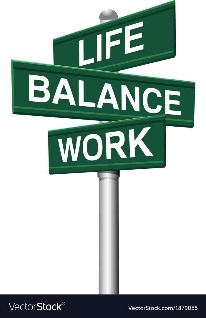 Signs life balance work choices vector | Price: 1 Credit (USD $1)